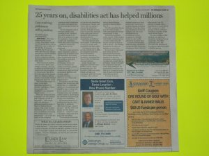 Newspaper article about disability